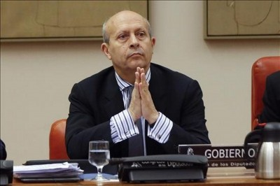 José Ignacio Wert en su comparecencia ayer el congreso de los diputados- Madrid`- Foto EFE/ Juan Carlos Hidalgo