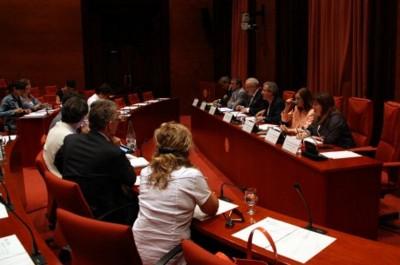 El presidente de la CCMA-TV3, Brauli Duart,  en su comparecencia en la Comisión de Control del Parlamento de Cataluña sobre la actuación de la CCMA-Tv3- ayer 27/06/2014 [Foto Agencia Catalana de Noticias]