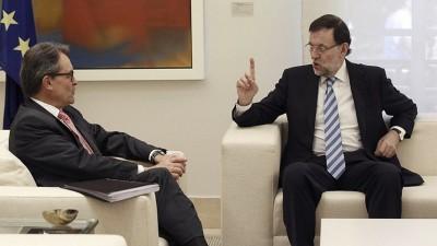 Presidente del gobierno reunido con el separatista Artur Mas en La Moncloa - Foto Tve