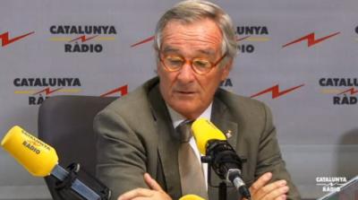 Xavier Trias, alcalde de Convergencia Democ´rtica de Cataluña, del presidente Artur Mas ; esta mañana en su entrevista en Cataluña Radio. Foto Tv3