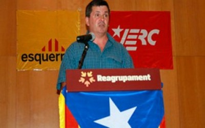 Pere Nolasc Ramis, secretario de organización de ERC en un acto de partido - Foto ERC