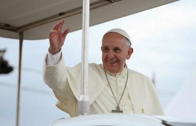 El papa Francisco en la ceremonia de despida de su viaje en Corea. Foto Republica de Corea