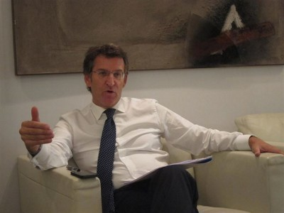Alberto Núñez Feijóo, durante su entrevista ayer en Europa Press Galicia. Foto Europa Press