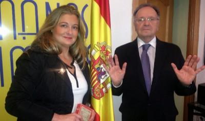 Virginia López y Miguel Bernard, Miembros del sindicatos Manos Limpias. Foto M. Limpias